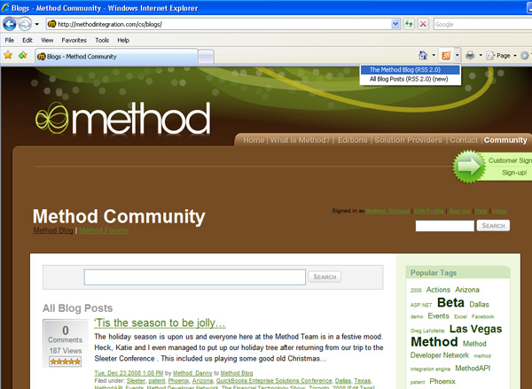 View the feed in XML